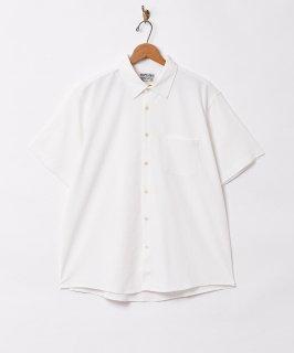 古着【3色展開】「TEMPTATION」半袖コットンリネンシャツ ホワイト 古着のネット通販 古着屋グレープフルーツムーン