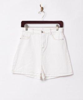 古着【2色展開】「Elcamino」ステッチショートパンツ ホワイト 古着のネット通販 古着屋グレープフルーツムーン