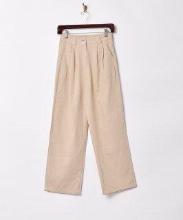 古着【2色展開】「Meridian」タック コットンパンツ ベージュ W25 古着のネット通販 古着屋グレープフルーツムーン