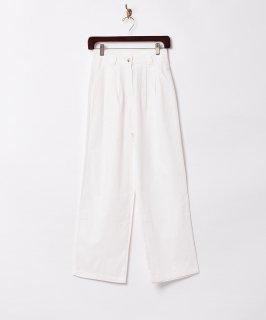 古着【2色展開】「Meridian」タック コットンパンツ ホワイト W25 古着のネット通販 古着屋グレープフルーツムーン