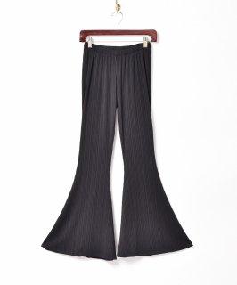 古着【3色展開】「Meridian」イージー リブフレアパンツ ブラック 古着のネット通販 古着屋グレープフルーツムーン