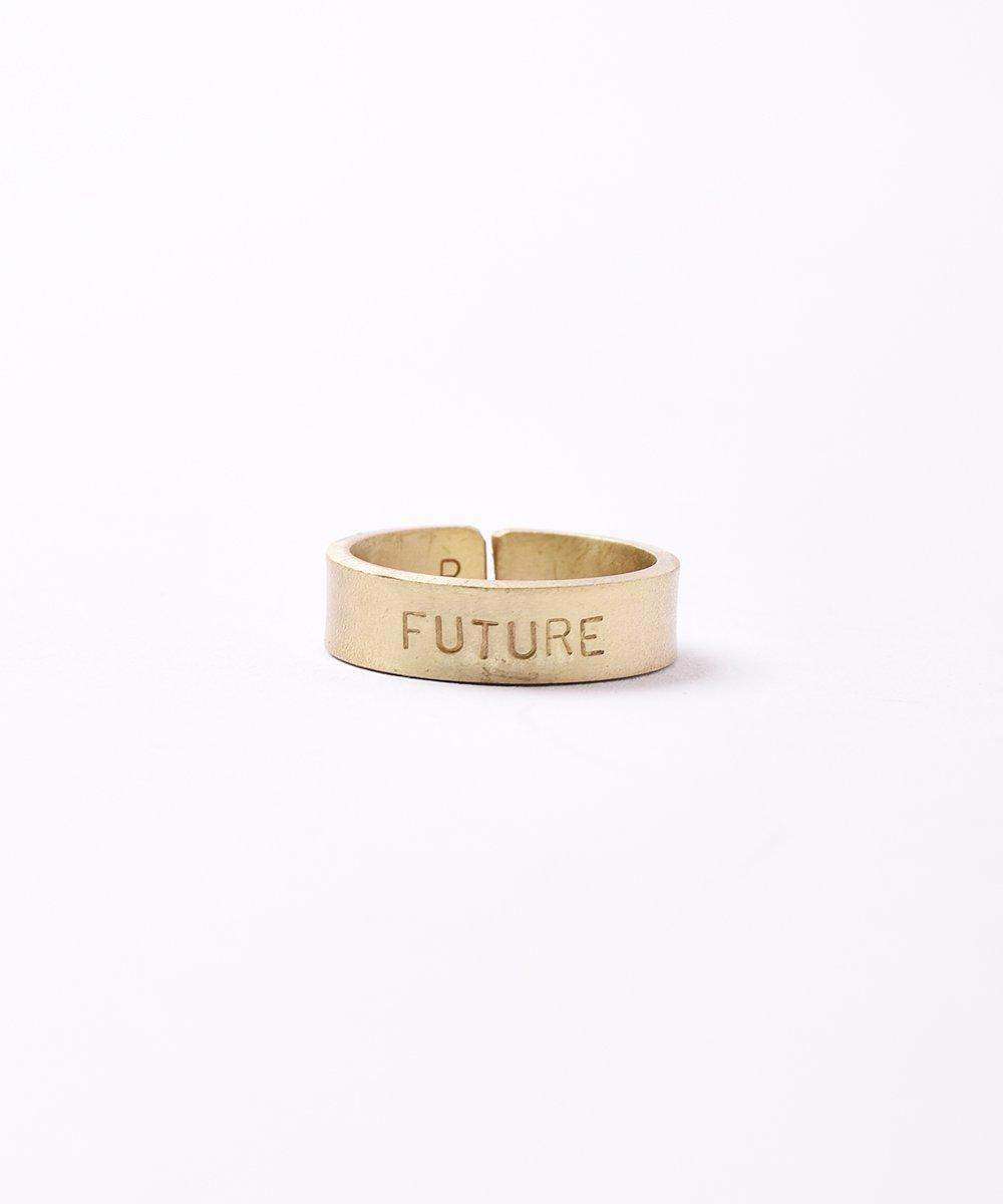 ゴールド メッセージリング「FUTURE」サムネイル