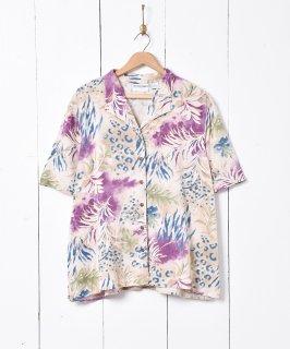 古着ボタニカル柄 半袖シャツ 古着のネット通販 古着屋グレープフルーツムーン