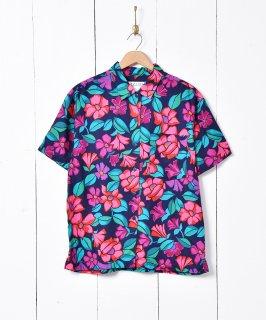 古着IZOD 花柄半袖シャツ 古着のネット通販 古着屋グレープフルーツムーン