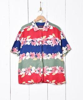古着フラワーライン 半袖シャツ 古着のネット通販 古着屋グレープフルーツムーン