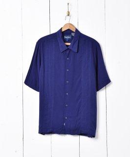 古着ライン刺繍 半袖シャツ 古着のネット通販 古着屋グレープフルーツムーン