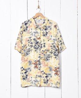 古着キリンモチーフ 総柄半袖シャツ 古着のネット通販 古着屋グレープフルーツムーン