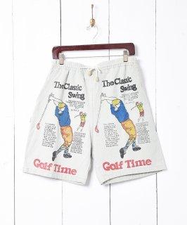 古着ゴルフプリント ショートパンツ 古着のネット通販 古着屋グレープフルーツムーン