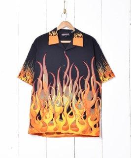 古着Sapphire lounge ファイヤーパターン 半袖シャツ 古着のネット通販 古着屋グレープフルーツムーン
