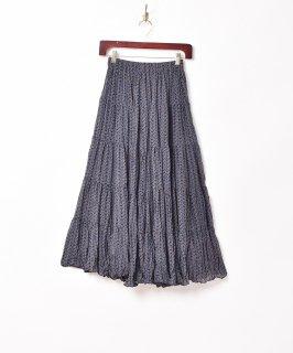 古着「Meridian」総柄 ティアードスカート 古着のネット通販 古着屋グレープフルーツムーン
