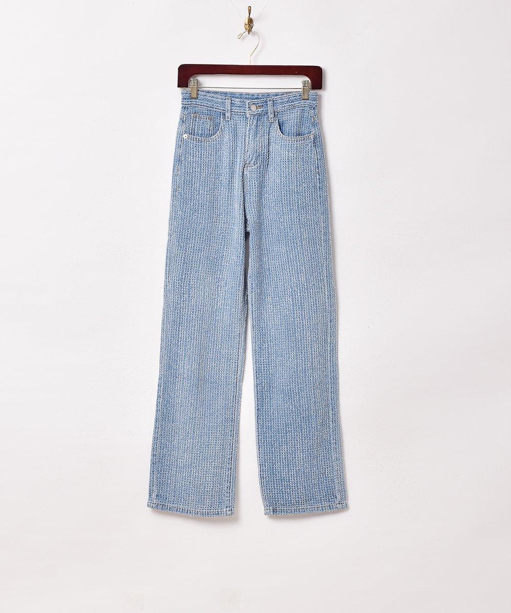 古着 【2色展開】「Elcamino」デザインデニムパンツ W26 ブルー 古着 ネット 通販 古着屋グレープフルーツムーン