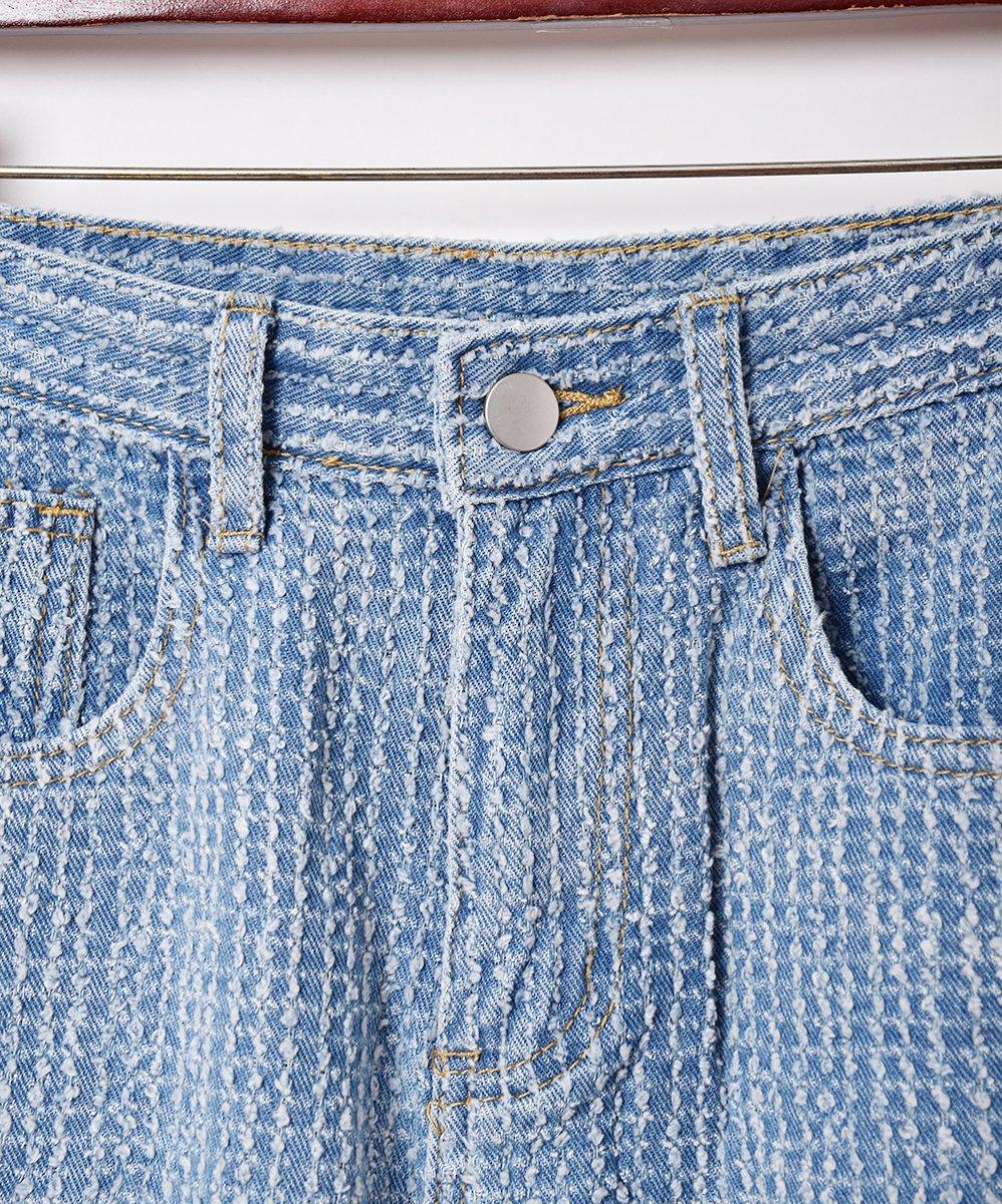 【2色展開】「Elcamino」デザインデニムパンツ W26 ブルーサムネイル