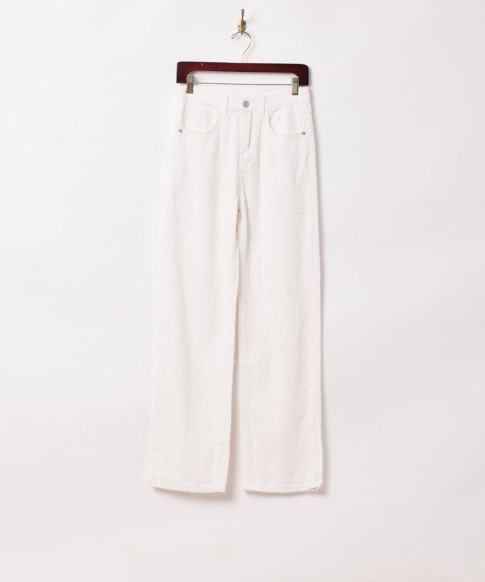 古着 【2色展開】「Elcamino」デザインデニムパンツ W26 ホワイト 古着 ネット 通販 古着屋グレープフルーツムーン