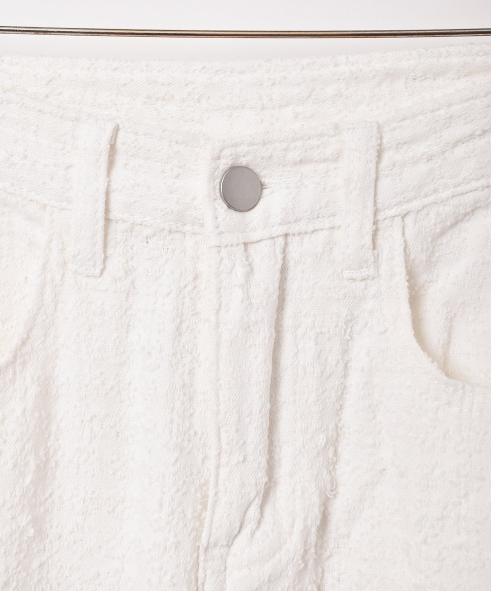 【2色展開】「Elcamino」デザインデニムパンツ W26 ホワイトサムネイル