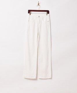 古着【2色展開】「Elcamino」デザインデニムパンツ W26 ホワイト 古着のネット通販 古着屋グレープフルーツムーン