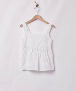 古着【2色展開】「Meridian」バックリボン キャミソール ホワイト 古着のネット通販 古着屋グレープフルーツムーン