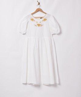 古着「Meridian」ゴールド刺繍 半袖ワンピース 古着のネット通販 古着屋グレープフルーツムーン