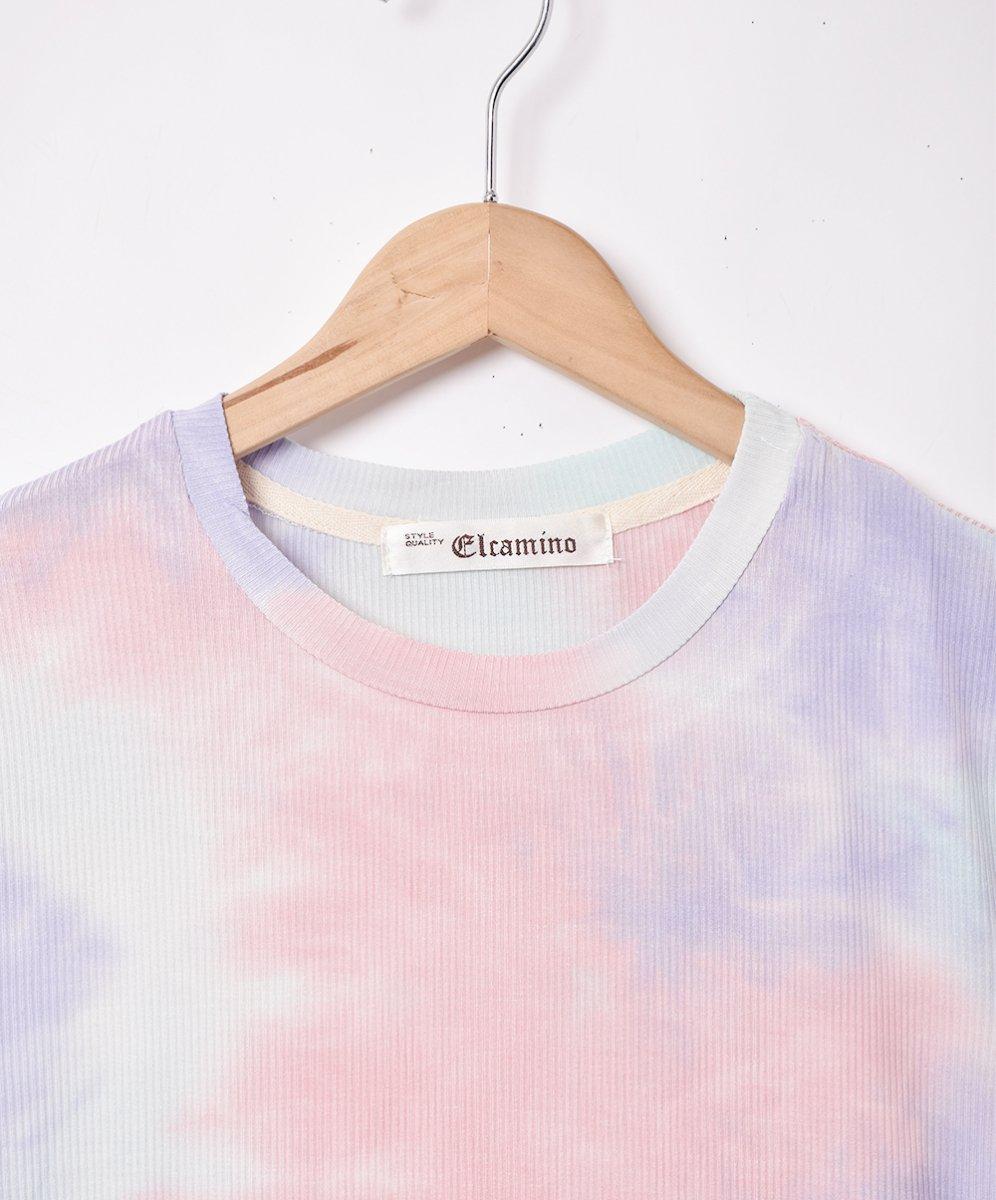 【2色展開】「Elcamino」タイダイ 半袖カットソー ピンクサムネイル