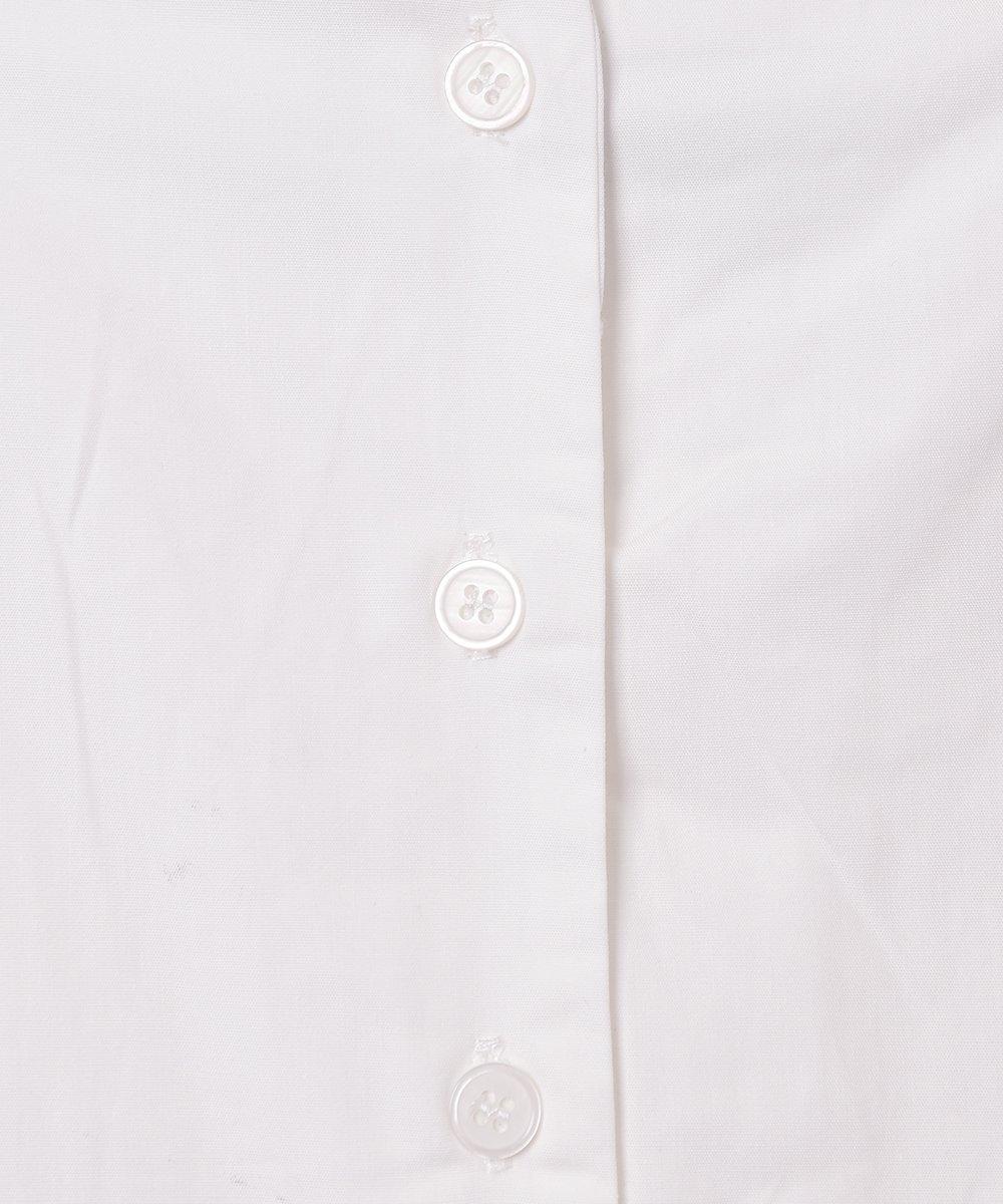 【2色展開】「Meridian」スクエアネック パフスリーブ半袖ワンピース ホワイトサムネイル