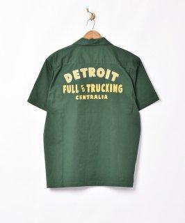 古着【2色展開】「Backers」半袖チェーンステッチシャツ グリーン 古着のネット通販 古着屋グレープフルーツムーン