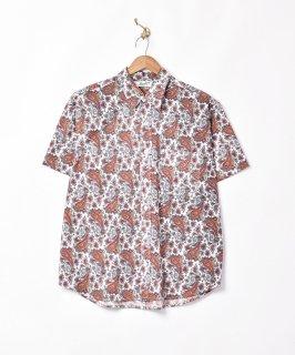 古着「Backers」ペイズリー柄 半袖シャツ 古着のネット通販 古着屋グレープフルーツムーン