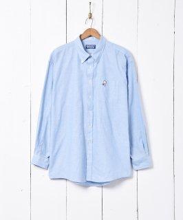 古着SNOOPY 刺繍 オックスフォード 長袖シャツ 古着のネット通販 古着屋グレープフルーツムーン