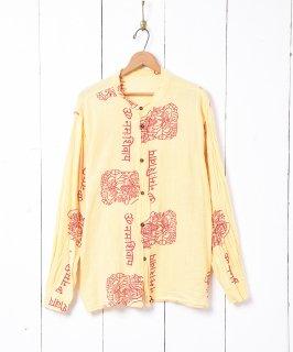 古着エスニックパターン ノーカラー長袖シャツ 古着のネット通販 古着屋グレープフルーツムーン