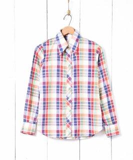 古着マルチカラー チェック柄 長袖シャツ 古着のネット通販 古着屋グレープフルーツムーン