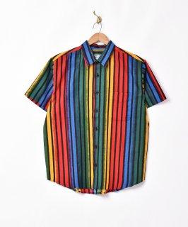 古着「TEMPTATION」グラデーションストライプ 半袖シャツ 古着のネット通販 古着屋グレープフルーツムーン