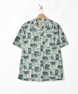古着「Backers」総柄 オープンカラー半袖シャツ 古着のネット通販 古着屋グレープフルーツムーン