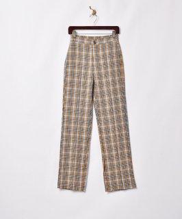 古着【2色展開】「Meridian」チェックスリットパンツ ベージュ W25 古着のネット通販 古着屋グレープフルーツムーン