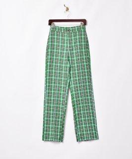 古着【2色展開】「Meridian」チェックスリットパンツ グリーン W25 古着のネット通販 古着屋グレープフルーツムーン