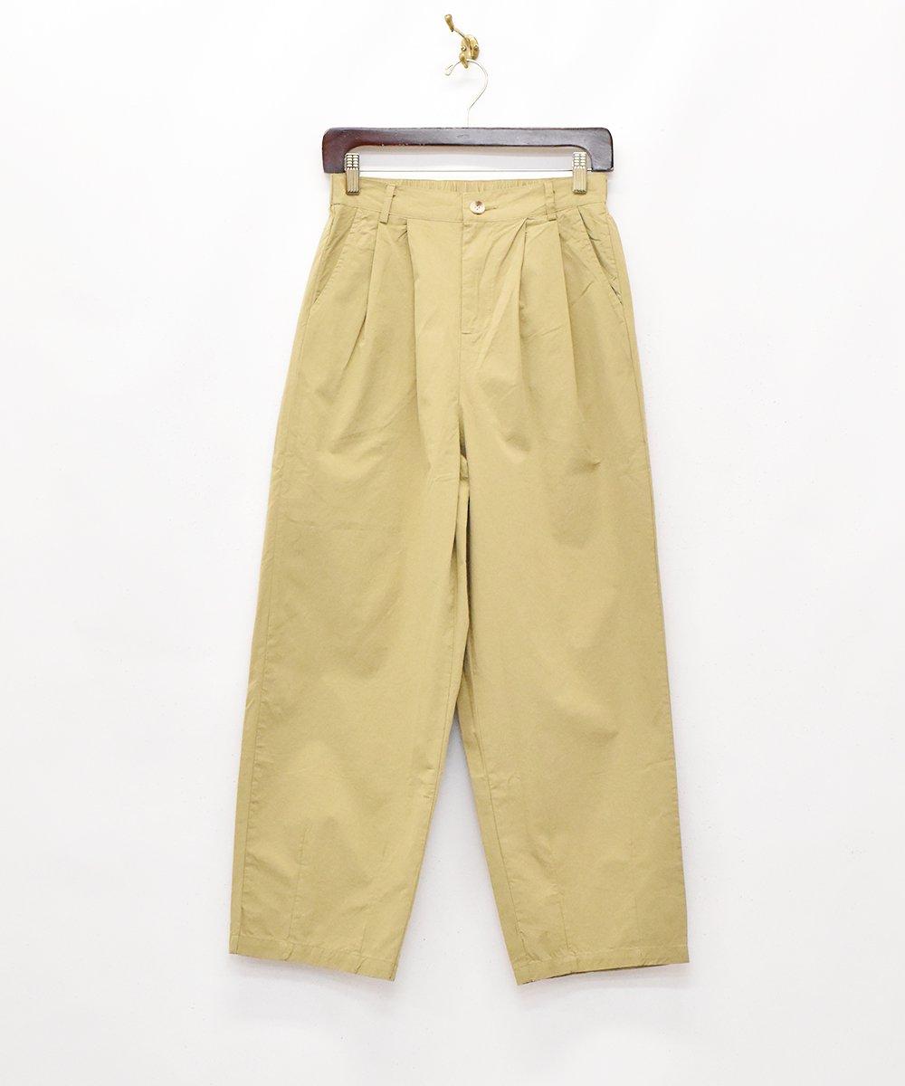 古着 【2色展開】「Elcamino」テーパードタックパンツ ベージュ 古着 ネット 通販 古着屋グレープフルーツムーン