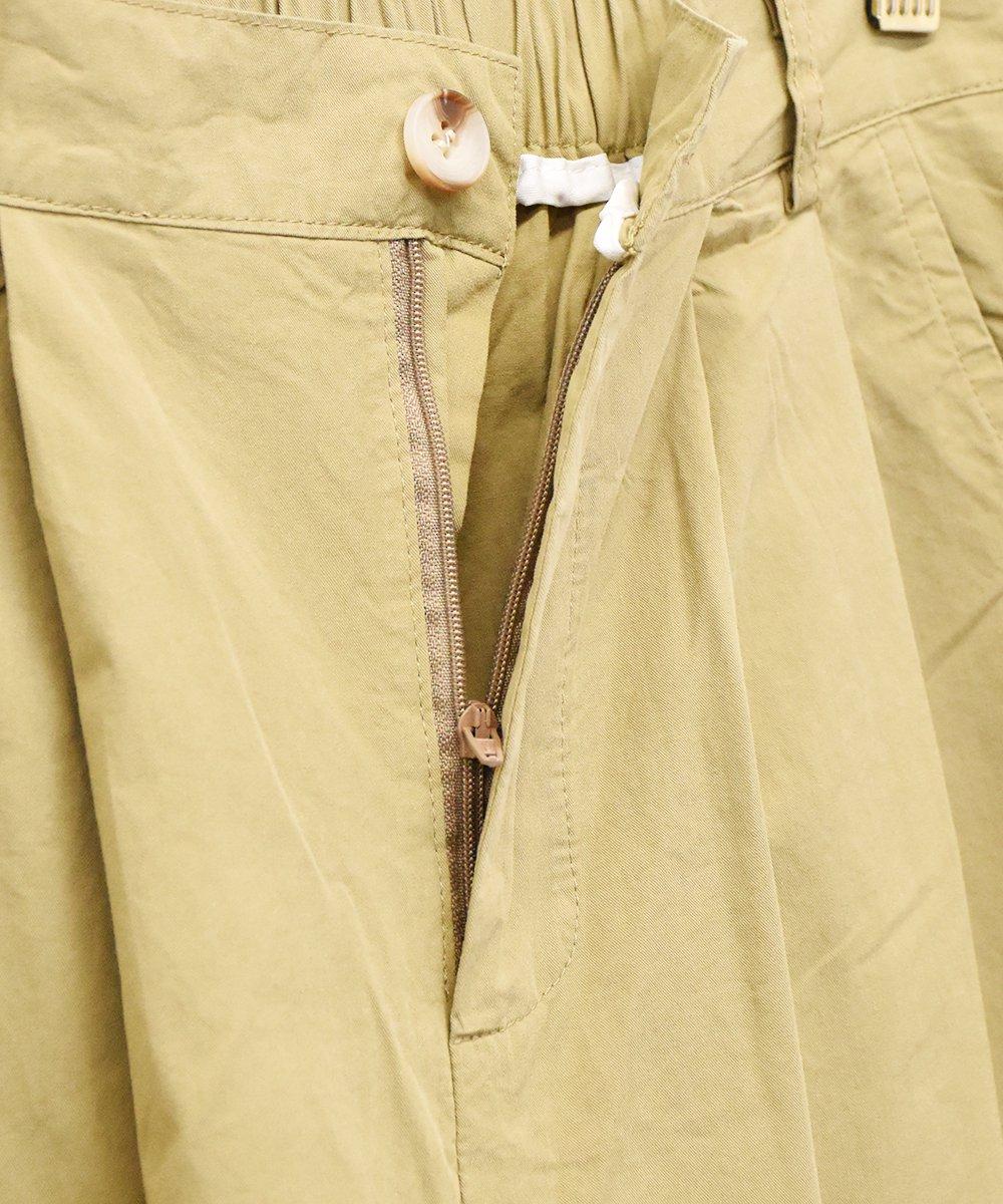 【2色展開】「Elcamino」テーパードタックパンツ ベージュサムネイル