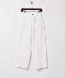 古着【2色展開】「Elcamino」テーパードタックパンツ ホワイト 古着のネット通販 古着屋グレープフルーツムーン