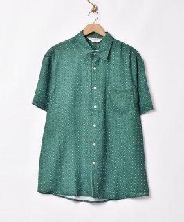古着「TEMPTATION」小紋柄 半袖シャツ 古着のネット通販 古着屋グレープフルーツムーン