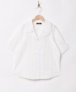 古着「Meridian」ダブルカラー 半袖ブラウス 古着のネット通販 古着屋グレープフルーツムーン