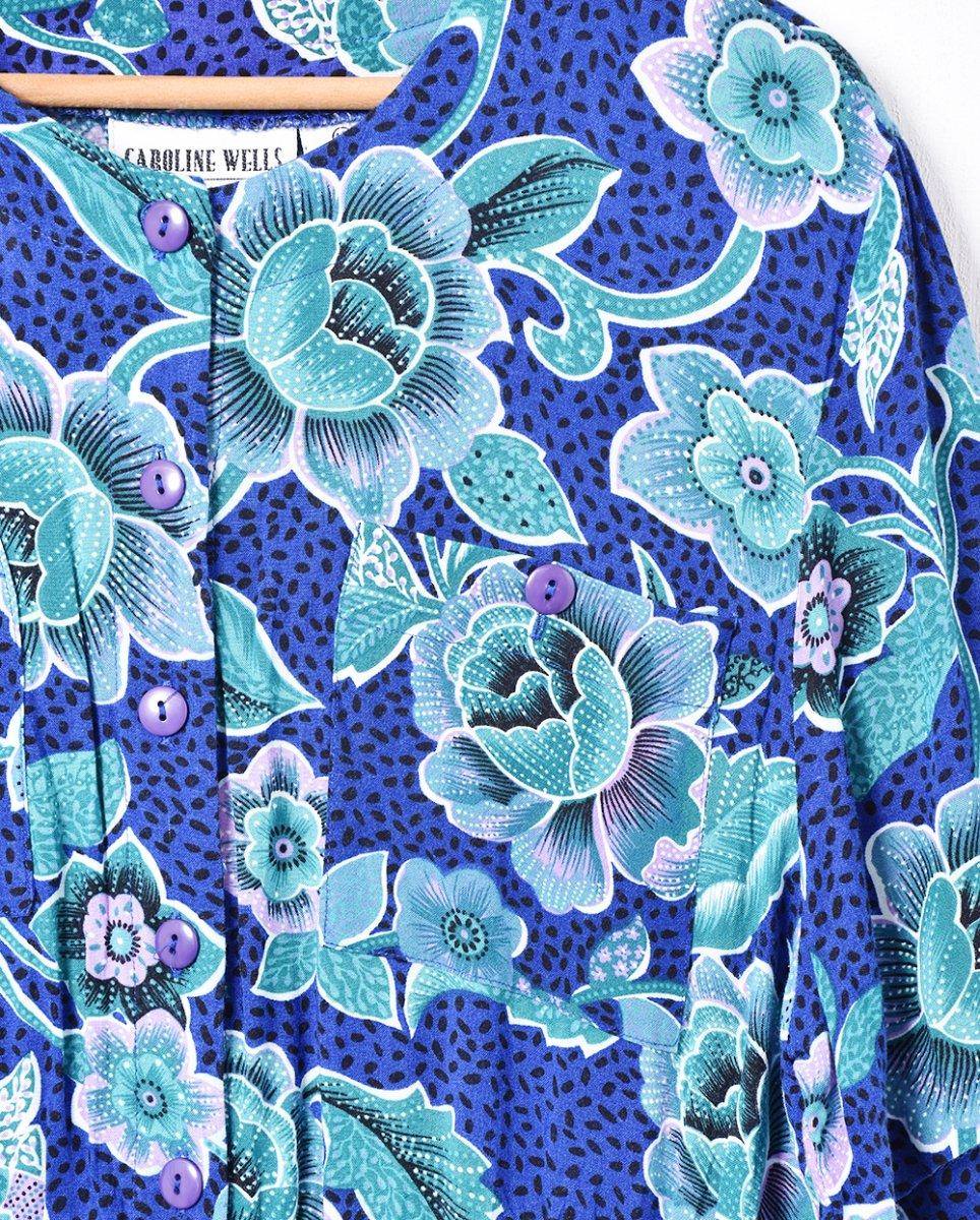 花柄 半袖ワンピースサムネイル