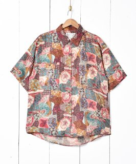 古着半袖 総柄シャツ 古着のネット通販 古着屋グレープフルーツムーン