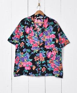 古着アメリカ製 花柄 開襟シャツ 古着のネット通販 古着屋グレープフルーツムーン