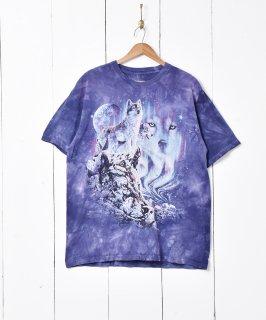 古着アメリカ製 THE MOUNTAIN タイダイ染めアニマルプリントTシャツ 古着のネット通販 古着屋グレープフルーツムーン