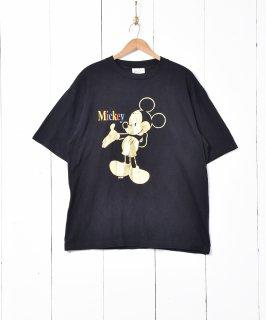 古着Disney ミッキー キャラクタープリントTシャツ 古着のネット通販 古着屋グレープフルーツムーン
