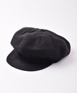 古着【2色展開】リネンキャスケット ブラック 古着のネット通販 古着屋グレープフルーツムーン