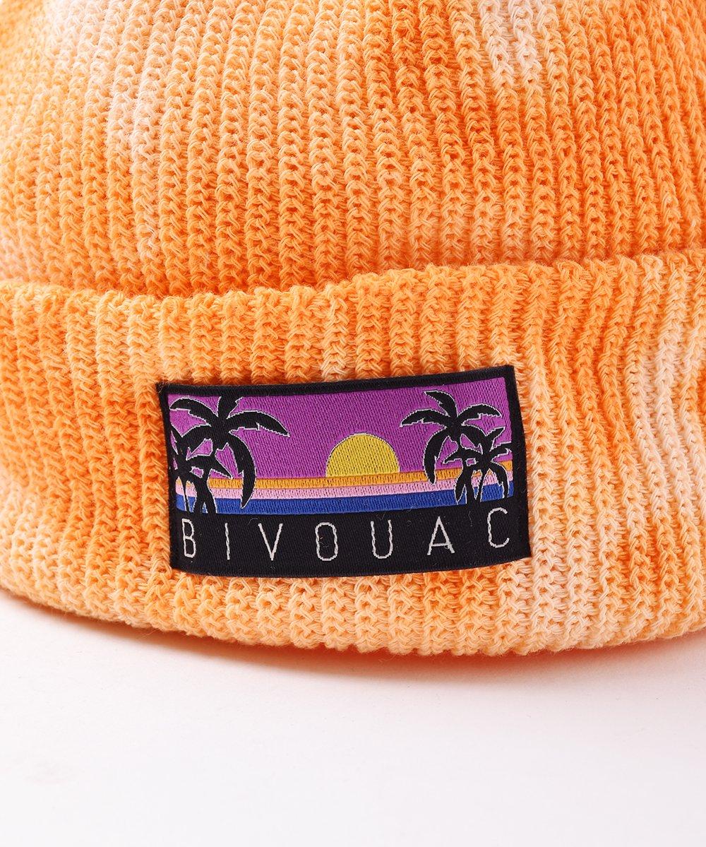 【4色展開】「BIVOUAC」タイダイ コットンニットキャップ オレンジサムネイル