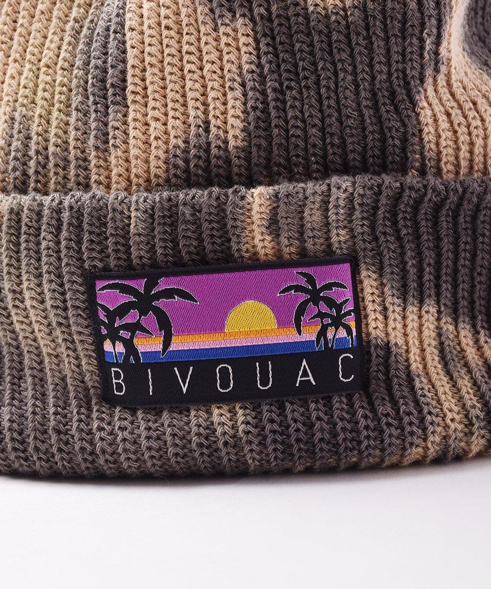 【4色展開】「BIVOUAC」タイダイ コットンニットキャップ ブラックサムネイル