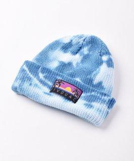 古着【4色展開】「BIVOUAC」タイダイ コットンニットキャップ ブルー 古着のネット通販 古着屋グレープフルーツムーン