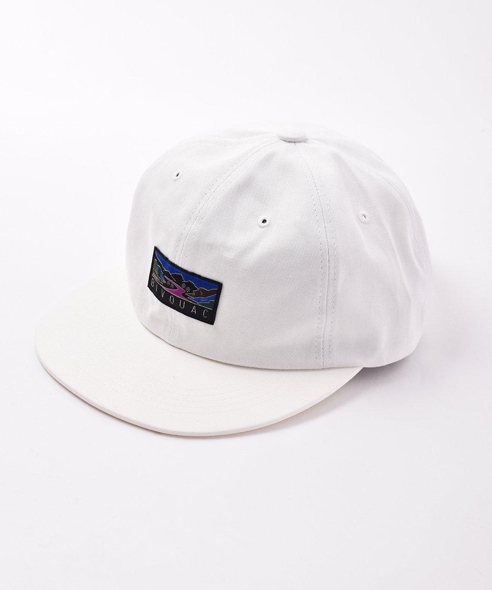 古着 【3色展開】「BIVOUAC」ロゴ入り プレーンキャップ ホワイト 古着 ネット 通販 古着屋グレープフルーツムーン