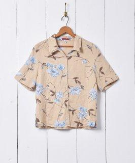 古着花柄 半袖リネンシャツ 古着のネット通販 古着屋グレープフルーツムーン