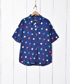 古着ドット柄 半袖シャツ 古着のネット通販 古着屋グレープフルーツムーン
