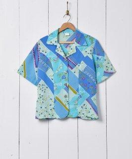 古着総柄 オープンカラー 半袖シャツ 古着のネット通販 古着屋グレープフルーツムーン